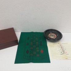 Juegos de mesa: ANTIGUA RULETA MARCA HERAS DE BAQUELITA, AÑOS 60. CON CAJA, INSTRUCCIONES Y TAPETE.. Lote 151886734