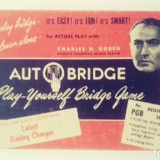 Juegos de mesa: AUTO BRIDGE CHARLES H. GOREN . Lote 151948066