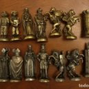 Juegos de mesa: AJEDREZ VALENCIA,MOROS Y CRISTIANOS.LAS PROVINCIAS .FIGURAS METAL 73 Y 63 MM. SIN ESTUCHE.. Lote 152141298