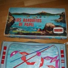 Juegos de mesa: JUEGO ANTIGUO LOS BARQUITOS DE PAPEL COMANSI EN CAJA ORIGINAL. Lote 152222666