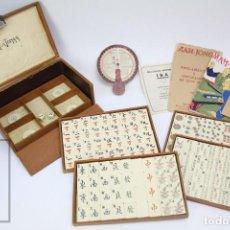 Juegos de mesa: ANTIGUO JUEGO DE MESA MAH-JONGG - SCHILLING Y CÍA. - CON INSTRUCCIONES - AÑO 1925 - #E01. Lote 152265526
