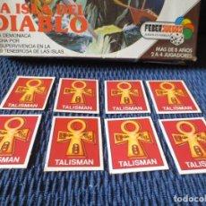 Juegos de mesa: CARTAS ESCUDO DE ORO (8 UNIDADES) DE LA ISLA DEL DIABLO (FEBER). Lote 152758298