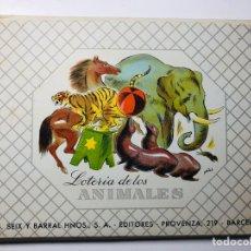 Juegos de mesa: LOTERIA DE LOS ANIMALES I.G. SEIX Y BARRAL HNOS S.A.. Lote 153477865