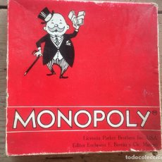 Juegos de mesa: JUEGO MESA MONOPOLY 1961 - REF. 6300 - CAJA ROJA CON CASAS, HOTELES Y FICHAS DE MADERA. Lote 154941233