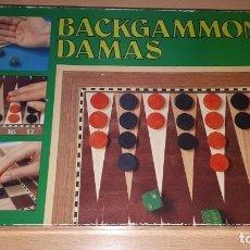 Juegos de mesa: BACKGAMMON DAMAS JUEGO MESA EDUCA REF 4685 AÑOS 80. Lote 155091478