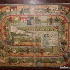 Juegos de mesa: ANTIGUO TABLERO JUEGO DE LA OCA AÑOS 20. Lote 155370962