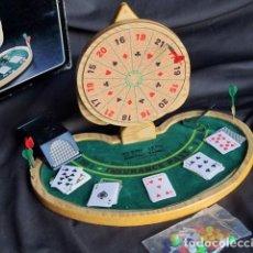 Juegos de mesa: MINI BLACK JACK CON JUEGO DE DARDOS.. Lote 155525922