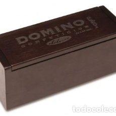 Juegos de mesa: DOMINO COMPETICION CAJA MADERA DE LUXE SIN USAR. Lote 155628658