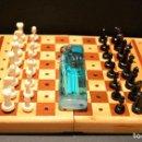 Juegos de mesa: AJEDREZ MINIATURA EN MADERA MARQUETERIA . Lote 155650174