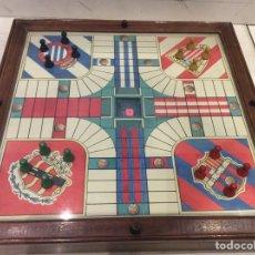 Juegos de mesa: PARCHÍS MADERA CRISTAL FABRICANTE DESCONOCIDO AÑOS 40|50. Lote 155677906