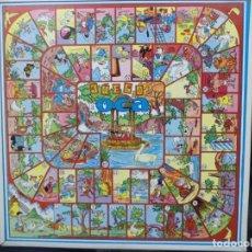 Juegos de mesa: TABLERO DE LA OCA Y PARCHÍS.EDITORIAL VALENCIANA AÑOS 50.ILUSTRACIONES DE KARPA.MADERA 10 MM.. Lote 155991966
