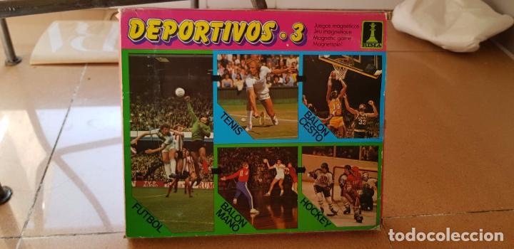 3ANTIGUOS JUEGOS DEPORTIVOS MAGNETICOS DE RIMA AÑOS 70 (Juguetes - Juegos - Juegos de Mesa)