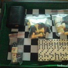 Juegos de mesa: MALETIN DE DAMAS,AJEDREZ,DOMINO Y BACKGAMMON. Lote 156593414