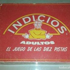 Juegos de mesa: JUEGO DE MESA INDICIOS -EL JUEGO DE LAS DIEZ PISTAS-. Lote 157098094
