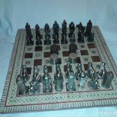 Juegos de mesa: MARAVILLOSO CONJUNTO AJEDREZ, DAMAS, TABLERO DE TARACEA NÁCAR MADREPERLA Y BAÚL MOTIVOS GRANADINOS. Lote 157246334
