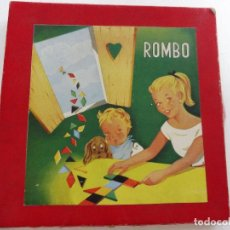 Juegos de mesa: JUEGO MADERA ROMBO ANTIGUO TANGRAM AÑOS 60. Lote 158115146