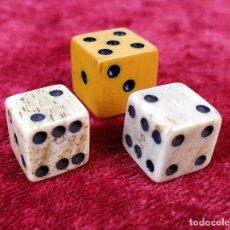 Juegos de mesa: LOTE DE DADOS. HUESO. BAQUELITA O CELULOIDE. ESPAÑA. XIX-XX. Lote 158554046
