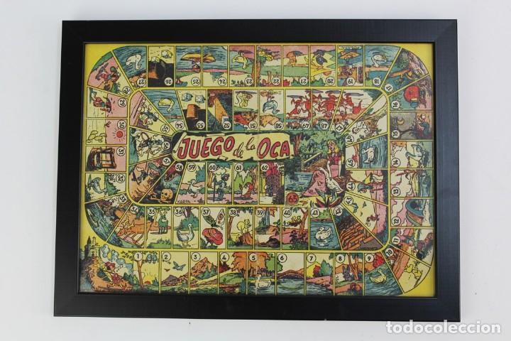 JUEGO DE LA OCA ENMARCADO.AÑOS 40 (Juguetes - Juegos - Juegos de Mesa)