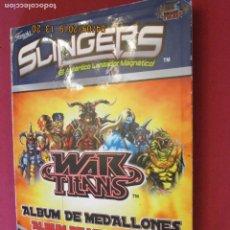 Juegos de mesa: SLINGERS - WAR TITANS - ALBUM DE MEDALLONES. VER DESCRIPCIÓN. FAMOSA 2011. . Lote 159275182