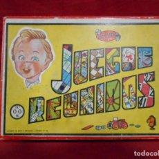 Juegos de mesa: ANTIGUA CAJA DE MADERA DE LOS JUEGOS REUNIDOS JEYPER Nº00 - AÑOS 50 / 60 -. Lote 159412134