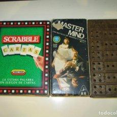 Juegos de mesa: SCRABBLE CARTAS, DE MATTEL & MINI MASTER MIND. ***DE OFERTA***.. Lote 159412310