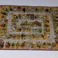 Juegos de mesa: BORRAS : ANTIGUO TABLERO DEL JUEGO DE LA OCA DE AGAPITO BORRAS EN CARTON AÑOS 20. Lote 159546930