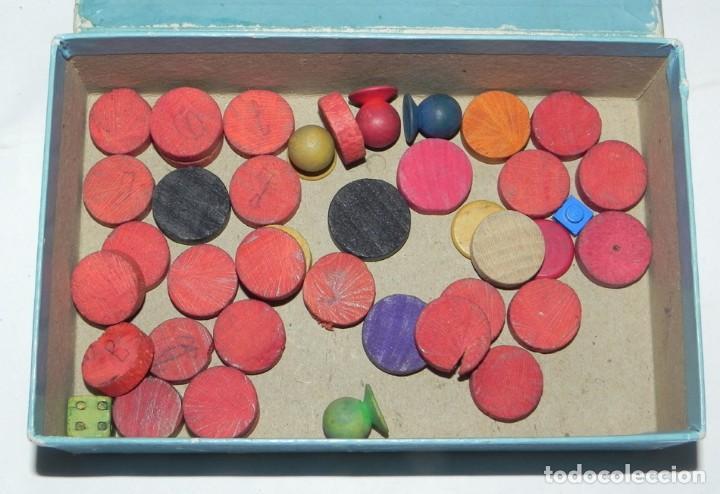 Juegos de mesa: FICHAS DE MADERA DEL JUEGO DE LA OCA AÑOS 20, PARCHIS, ETC...LAS OCAS MIDEN 4,5 CMS DE ALTO. - Foto 3 - 159611418