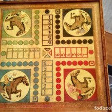 Juegos de mesa: * PARCHIS, OCA ,DAMAS... CON CAJA PARA FICHAS. (BJ/D). Lote 159772498