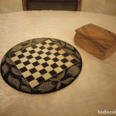 Juegos de mesa: EXQUISITO AJEDREZ AFRICANO. HECHO A MANO. DE PIEDRA,TRIBAL,JAMBO KENYA 1991. Lote 159886938