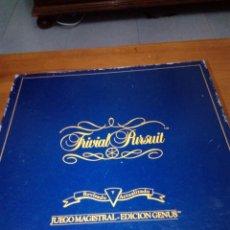 Juegos de mesa: TRIVIAL PURSUIT. JUEGO MAGISTRAL EDICIÓN GENUS. REVISADO Y ACTUALIZADO. . Lote 160032146