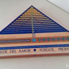 Juegos de mesa: JUEGO DE MESA PARA ADULTOS PIRAMIDE DEL AMOR JUEGOS PROHIBIDOS NIVEL 1 DE CEJU AÑO 1988 COMPLETO. Lote 160288038