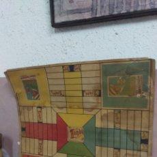 Juegos de mesa: ANTIGUO TABLERO PARCHIS PUBLICIDAD BAMBÚ. Lote 160336622
