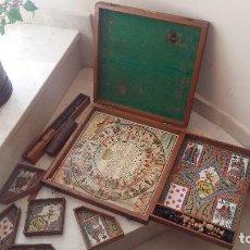 Juegos de mesa: ESPECTACULAR CAJA ANTIGUOS JUEGOS DE MESA NAIN JAUNE PRINCIPIOS 1900. Lote 161167438