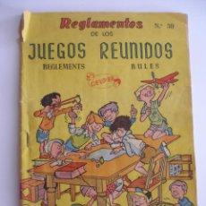 Juegos de mesa: REGLAMENTOS DE LOS JUEGOS REUNIDOS GEYPER Nº 30. Lote 161336694