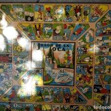 Juegos de mesa: TABLERO MADERA OCA Y PARCHIS 6 JUGADORES JUEGOS CAYRO 40 X 40 CM,. Lote 162338126