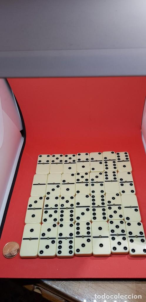 Juegos de mesa: ANTIGUO DOMINÓ MARFIL EN SU BOLSA ORIGINAL - Foto 2 - 162502446