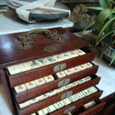 Juegos de mesa: ANTIGUO Y BONITO JUEGO MAH JONG. Lote 163120308