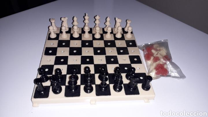 JUEGO AJEDREZ Y DAMAS PORTÁTIL (Juguetes - Juegos - Juegos de Mesa)