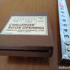 Juegos de mesa: CARTUCHO AJEDREZ FIDELITY CB0 CHALLENGER BOOK OPENINGS CHESS CARTRIDGE FIDELITY ELECTRONICS. Lote 163779666