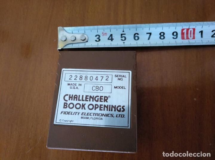 Juegos de mesa: CARTUCHO AJEDREZ FIDELITY CB0 CHALLENGER BOOK OPENINGS CHESS CARTRIDGE FIDELITY ELECTRONICS - Foto 16 - 163779666