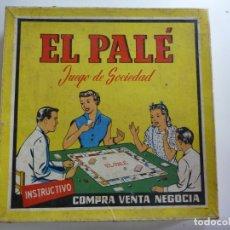 Juegos de mesa: JUEGO ANTIGUO EL PALÉ. . Lote 163870870