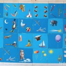 Juegos de mesa: CARTEL PUBLICIDAD JUEGO ROMPECABEZAS INFANTIL PINTURA PINTADO A MANO . ORIGINAL. Lote 164017454