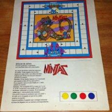 Juegos de mesa: JUEGO NINJAS RECORTABLE. Lote 164091534