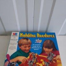 Juegos de mesa: JUEGO MALDITOS ROEDORES MB NUNCA JUGADO. Lote 164794953