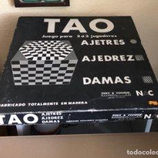 Juegos de mesa: JUEGO TAO MARCA AJETRES AJEDREZ DAMAS Y NAC. Lote 164917781