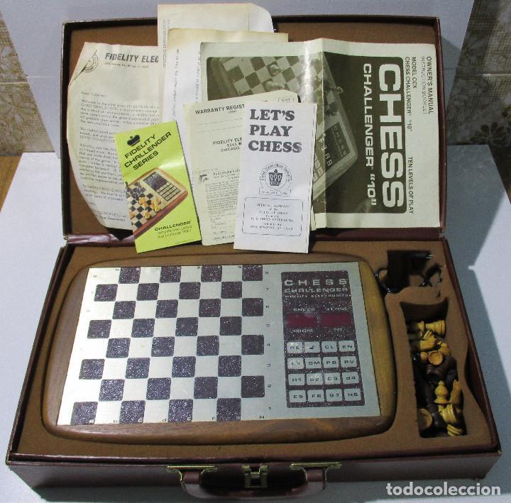 AJEDREZ ELECTRONICO CHESS CHALLENGER 10 FIDELITY ELECTRONICS AÑO 1978 (Juguetes - Juegos - Juegos de Mesa)