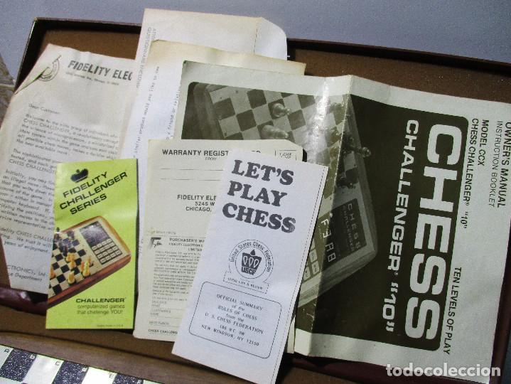 Juegos de mesa: AJEDREZ ELECTRONICO CHESS CHALLENGER 10 FIDELITY ELECTRONICS AÑO 1978 - Foto 4 - 164922862