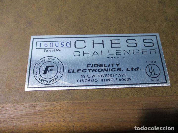 Juegos de mesa: AJEDREZ ELECTRONICO CHESS CHALLENGER 10 FIDELITY ELECTRONICS AÑO 1978 - Foto 6 - 164922862