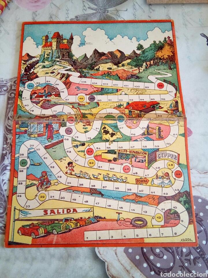 TABLERO DE CARTÓN JUEGO. ILUSTRADO POR KARPA. GEYPER (Juguetes - Juegos - Juegos de Mesa)