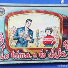 Juegos de mesa: ¿LO TOMA O LO DEJA? JUGUETES BORRÁS. JUEGO ANTIGUO.. Lote 166709966